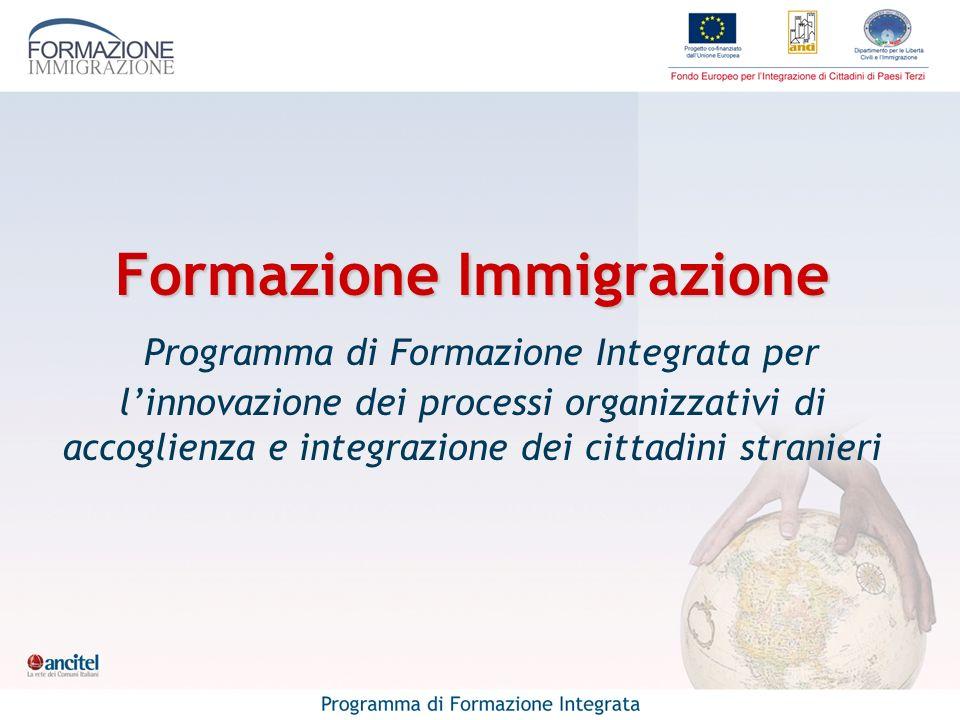 Formazione Immigrazione Formazione Immigrazione Programma di Formazione Integrata per linnovazione dei processi organizzativi di accoglienza e integra