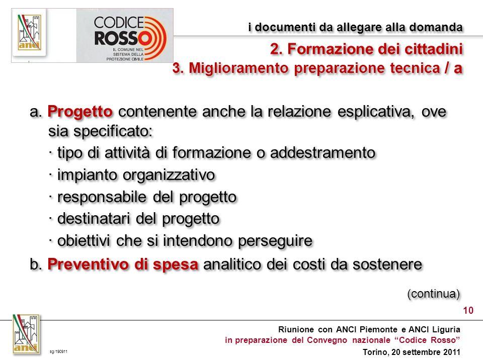 Riunione con ANCI Piemonte e ANCI Liguria in preparazione del Convegno nazionale Codice Rosso Torino, 20 settembre 2011 a.