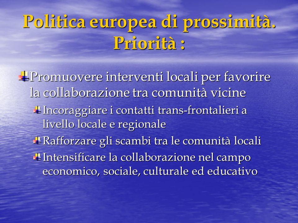 Politica europea di prossimità.