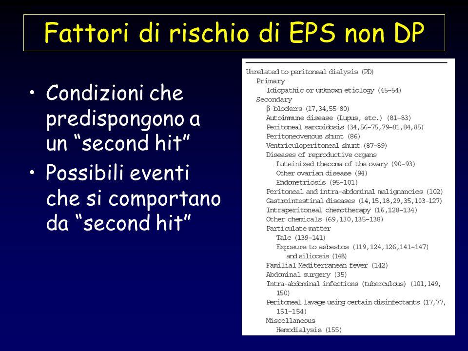 Fattori di rischio di EPS non DP Condizioni che predispongono a un second hit Possibili eventi che si comportano da second hit
