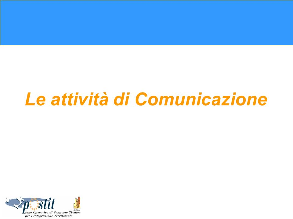 Obiettivi della Comunicazione Esterno: Assicurare unadeguata informazione e comunicazione delle attività connesse con lattuazione del QCS ob.