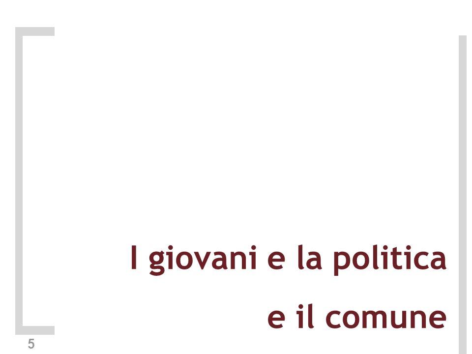 5 I giovani e la politica e il comune