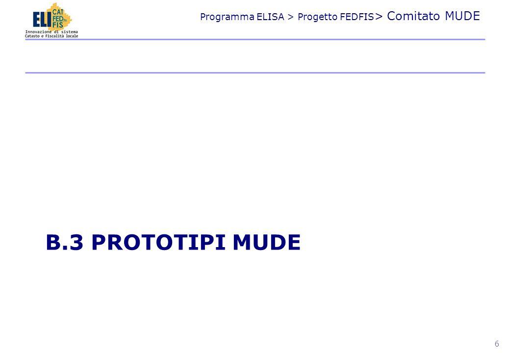 Programma ELISA > Progetto FEDFIS > Comitato MUDE Obiettivo Accettazione in elettronico con FD per il Piano Casa Evoluto nella accettazione SCIA (DPR 160/2010) Stadio di sviluppo In produzione per il piano casa Consegne a FEDFIS Contribuzione allo sviluppo XML operativo nazionale Prototipo Regione Umbria 7