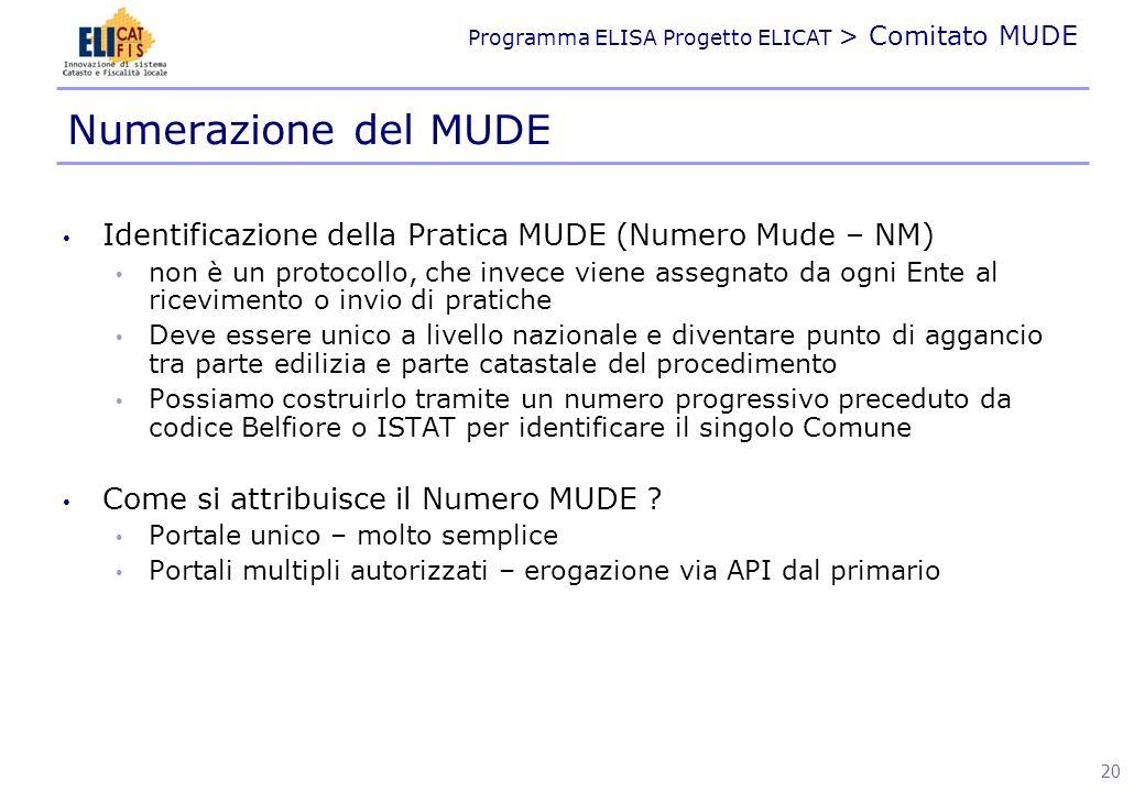 Programma ELISA Progetto ELICAT > Comitato MUDE DIAGRAMMI DI FLUSSO 21