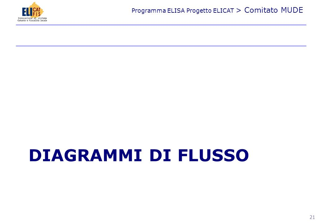 Programma ELISA Progetto ELICAT > Comitato MUDE 22