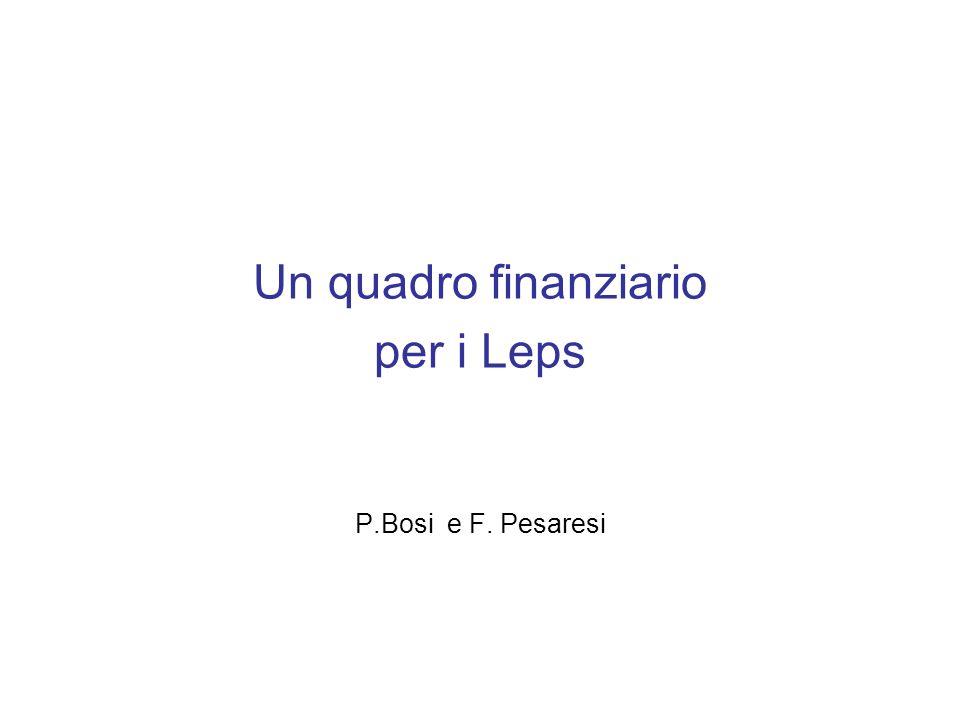 Un quadro finanziario per i Leps P.Bosi e F. Pesaresi