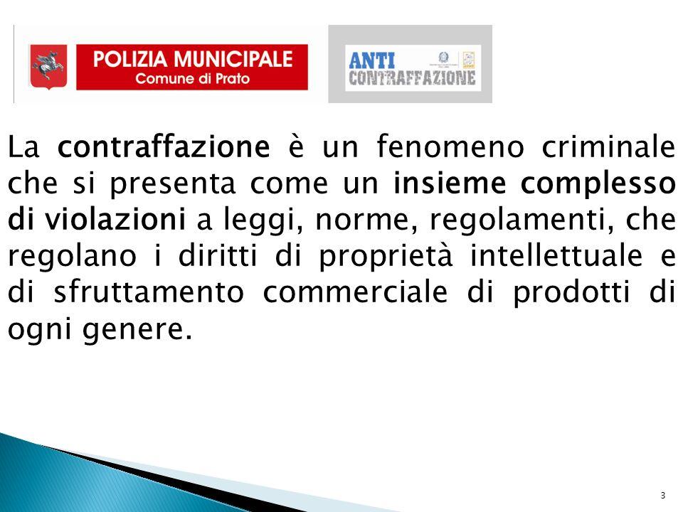 3 La contraffazione è un fenomeno criminale che si presenta come un insieme complesso di violazioni a leggi, norme, regolamenti, che regolano i diritti di proprietà intellettuale e di sfruttamento commerciale di prodotti di ogni genere.