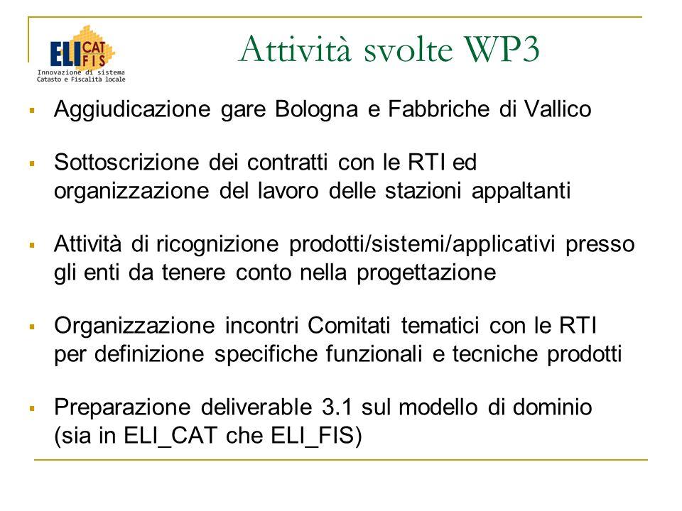 Aggiudicazione gare Bologna e Fabbriche di Vallico Sottoscrizione dei contratti con le RTI ed organizzazione del lavoro delle stazioni appaltanti Atti