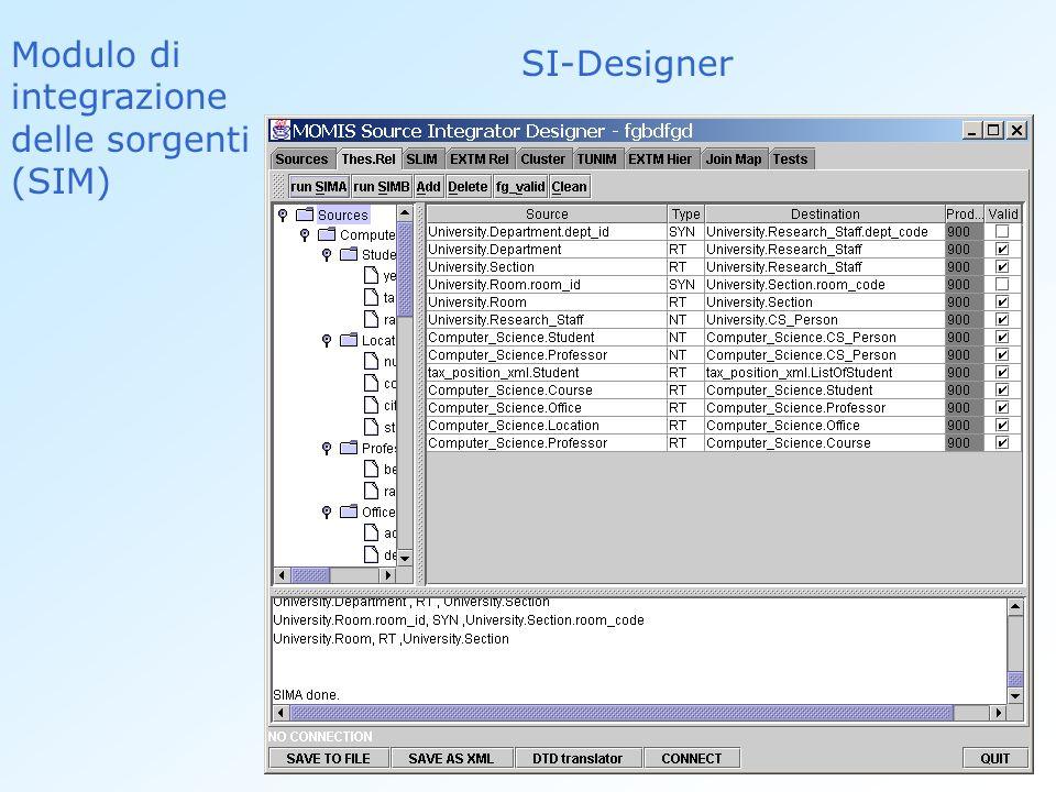 Modulo di integrazione delle sorgenti (SIM) SI-Designer