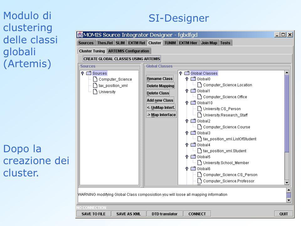 Modulo di clustering delle classi globali (Artemis) SI-Designer Dopo la creazione dei cluster.