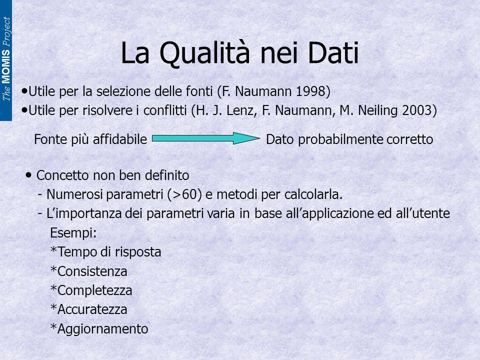 La Qualità nei Dati Utile per la selezione delle fonti (F.