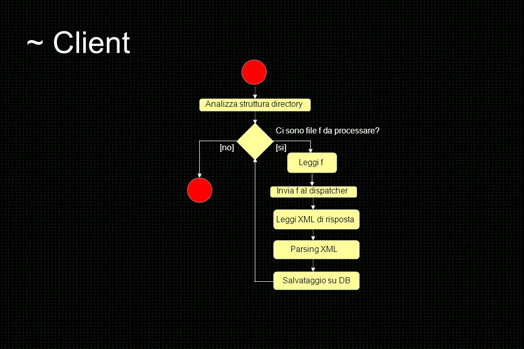 ~ Client Analizza struttura directory Ci sono file f da processare.