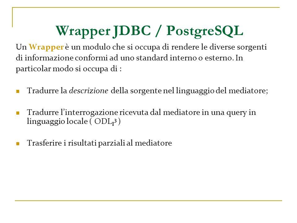 Un Wrapper è un modulo che si occupa di rendere le diverse sorgenti di informazione conformi ad uno standard interno o esterno. In particolar modo si