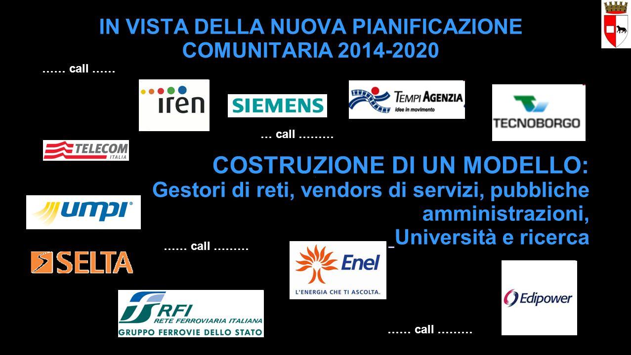 …… call ……… …… call …… …… call ……… … call ……… COSTRUZIONE DI UN MODELLO: Gestori di reti, vendors di servizi, pubbliche amministrazioni, Università e