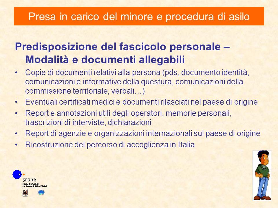Predisposizione del fascicolo personale – Modalità e documenti allegabili Copie di documenti relativi alla persona (pds, documento identità, comunicaz