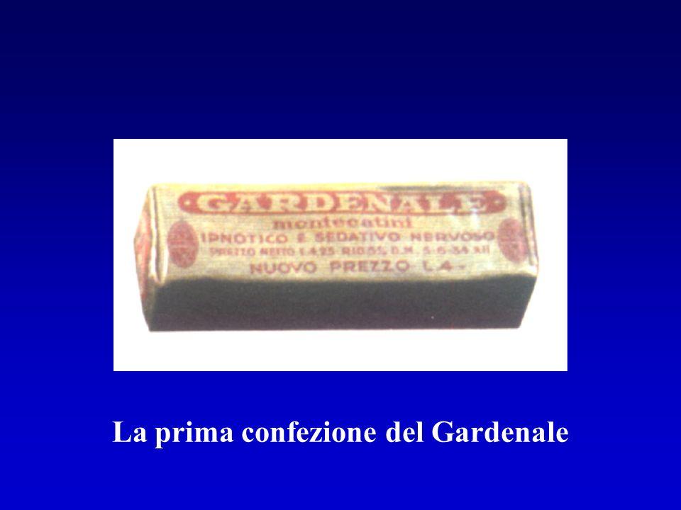La prima confezione del Gardenale