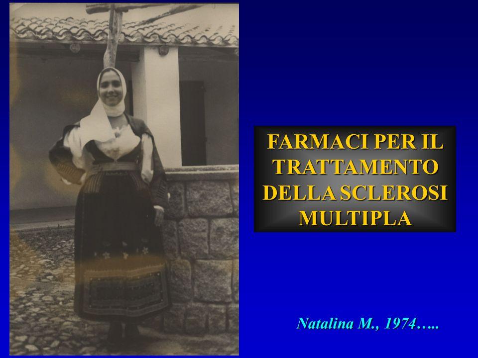 FARMACI PER IL TRATTAMENTO DELLA SCLEROSI MULTIPLA Natalina M., 1974…..