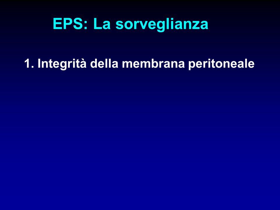 EPS: La sorveglianza 1. Integrità della membrana peritoneale