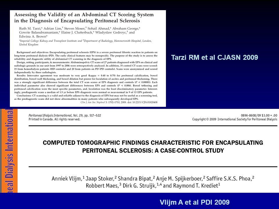Tarzi RM et al CJASN 2009 Vlijm A et al PDI 2009