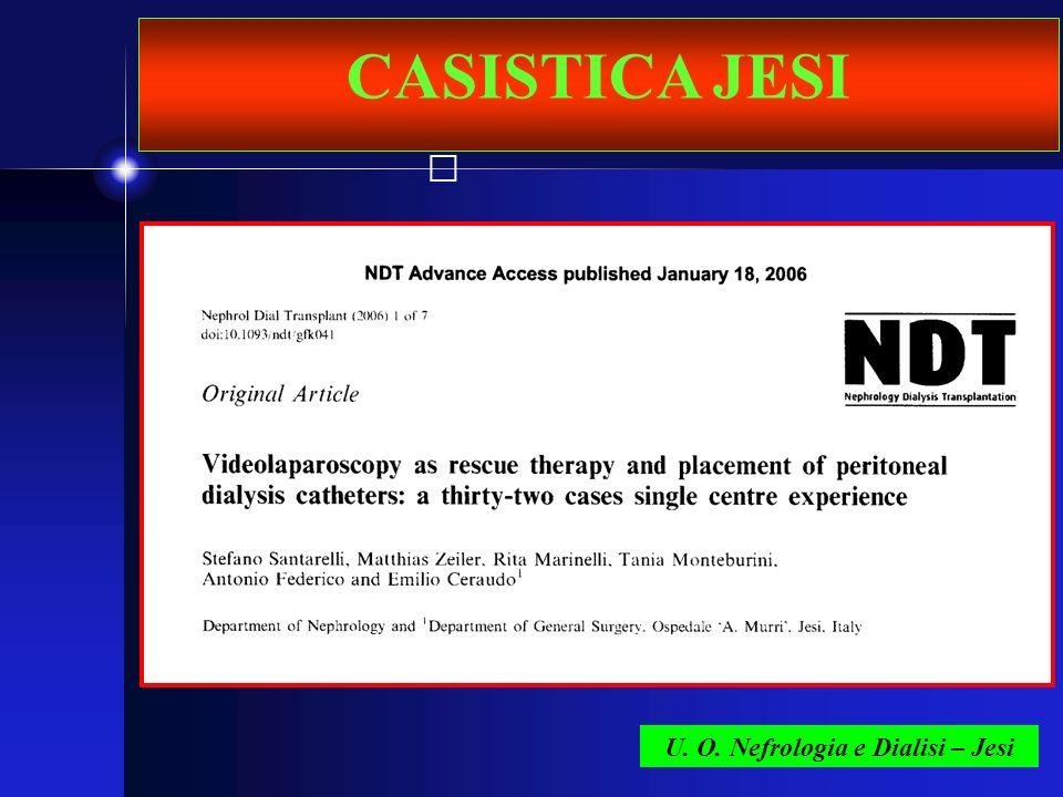 CASISTICA JESI U. O. Nefrologia e Dialisi – Jesi