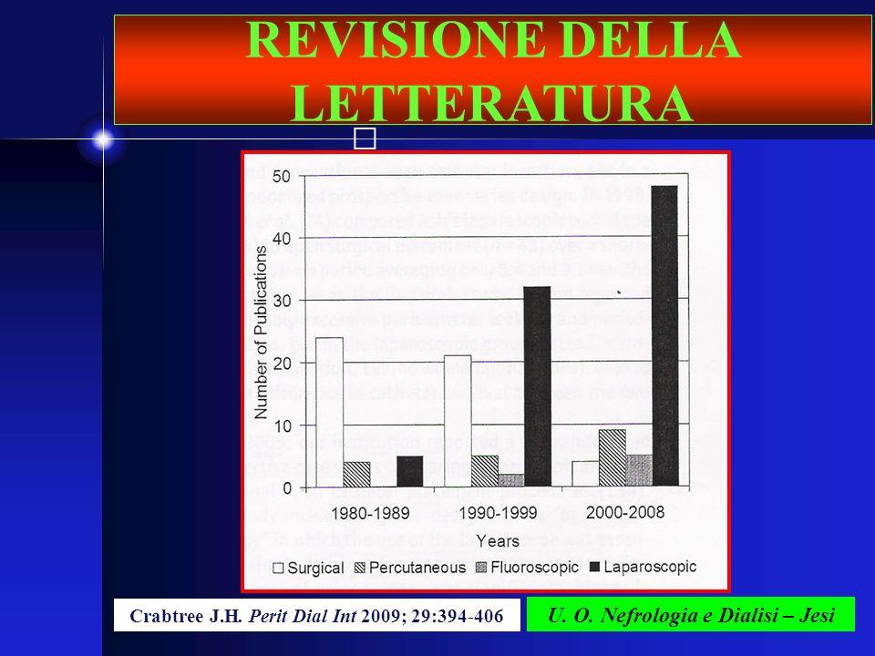 U. O. Nefrologia e Dialisi – Jesi Crabtree J.H. Perit Dial Int 2009; 29:394-406 REVISIONE DELLA LETTERATURA