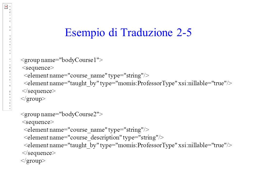Esempio di Traduzione 2-5