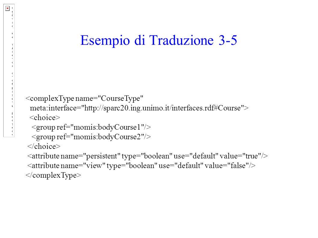 Esempio di Traduzione 3-5