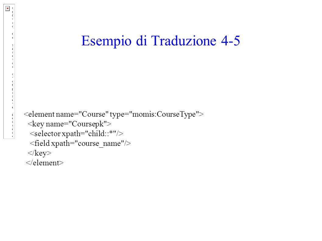 Esempio di Traduzione 4-5