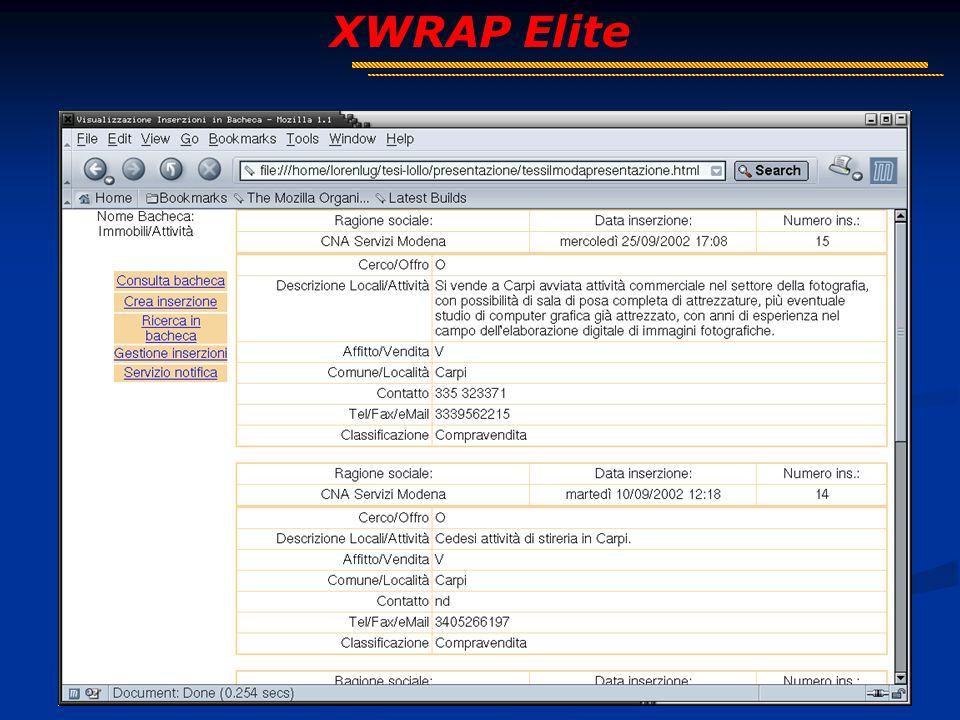 7 XWRAP Elite Fase di Test: Problemi Immagini, Javascript Sottoalbero minimo HTTPS Frame Tabelle complesse