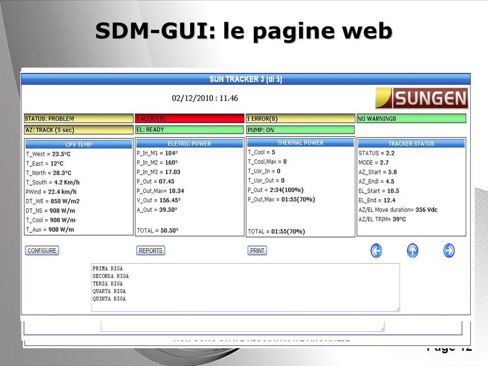Powerpoint Templates Page 12 SDM-GUI: le pagine web