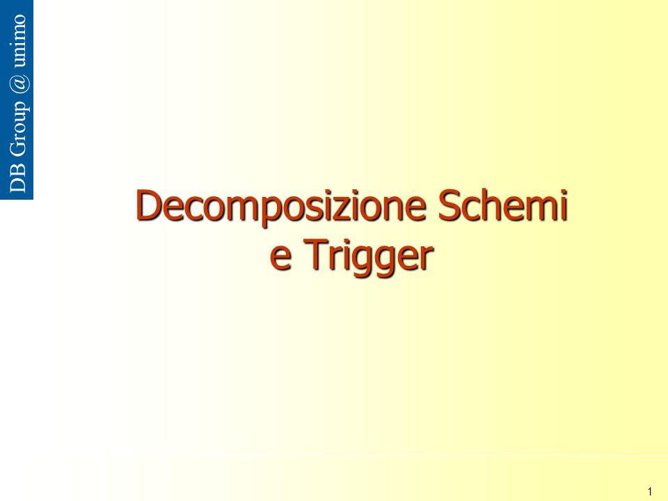 Università di Modena e Reggio Emilia 1 DB Group @ unimo Decomposizione Schemi e Trigger