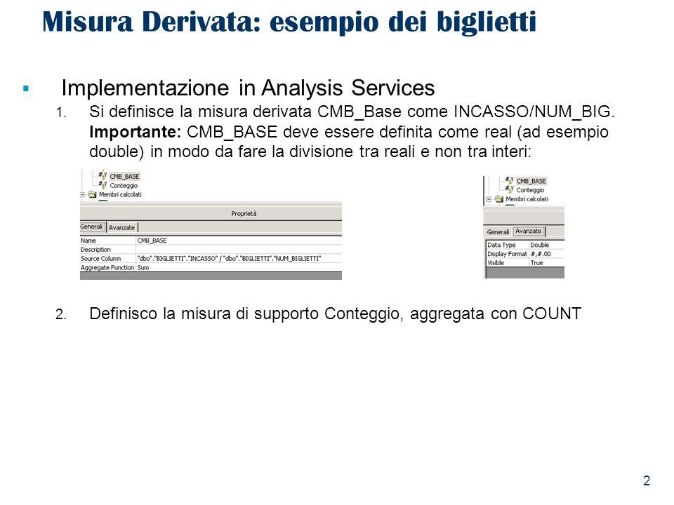 3 Misura Derivata: esempio dei biglietti 3.