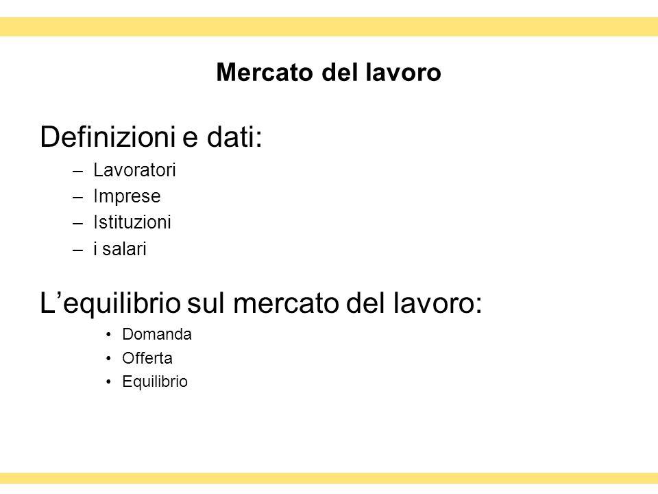 LA RICERCA DEL LAVORO 4.