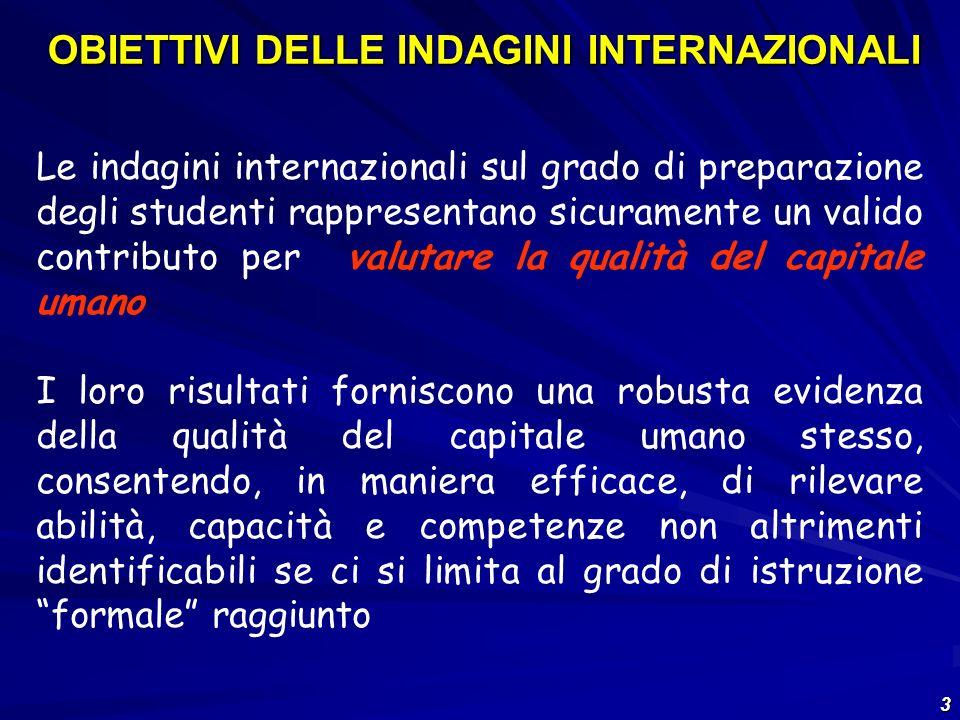 24 Paesi aderenti al Progetto PISA nel 2006 Equivalenti a 87% delleconomia mondiale
