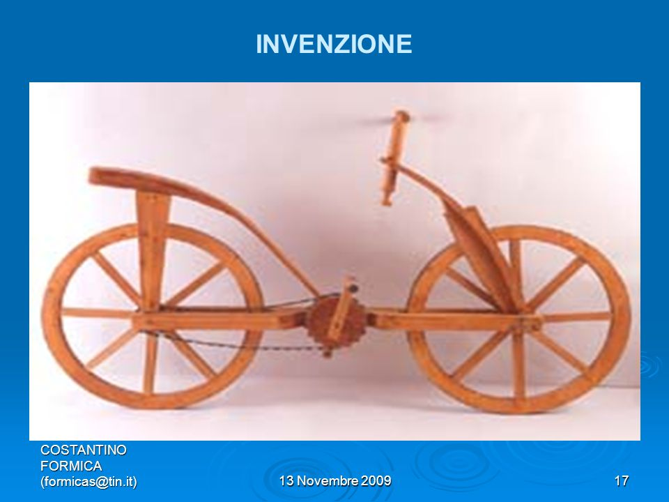COSTANTINO FORMICA (formicas@tin.it)13 Novembre 200917 INVENZIONE