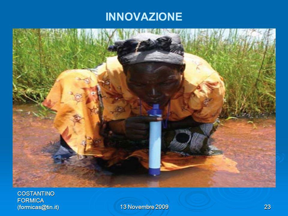 COSTANTINO FORMICA (formicas@tin.it)13 Novembre 200923 INNOVAZIONE