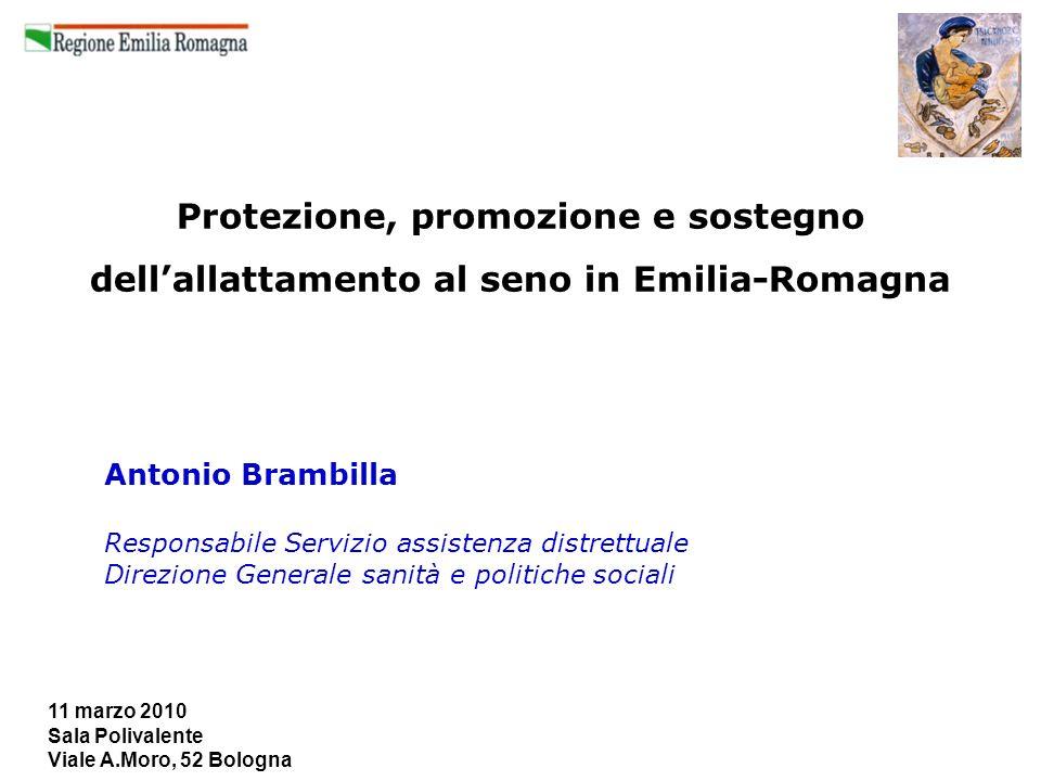 11 marzo 2010 Sala Polivalente Viale A.Moro, 52 Bologna Protezione, promozione e sostegno dellallattamento al seno in Emilia-Romagna Antonio Brambilla