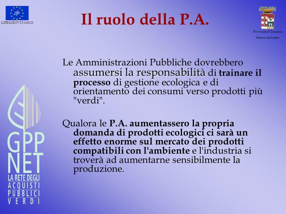 LIFEO2ENV/IT/000023 Provincia di Cremona Settore Ambiente Di più………….