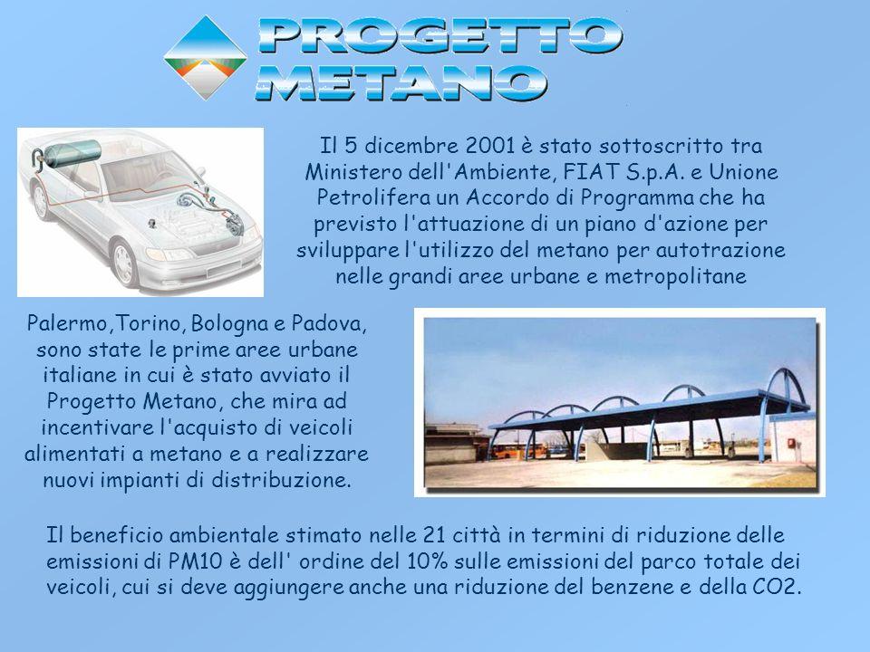 Il 5 dicembre 2001 è stato sottoscritto tra Ministero dell'Ambiente, FIAT S.p.A. e Unione Petrolifera un Accordo di Programma che ha previsto l'attuaz