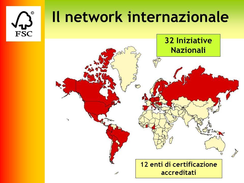 Logo fsc Il network internazionale 32 Iniziative Nazionali 12 enti di certificazione accreditati