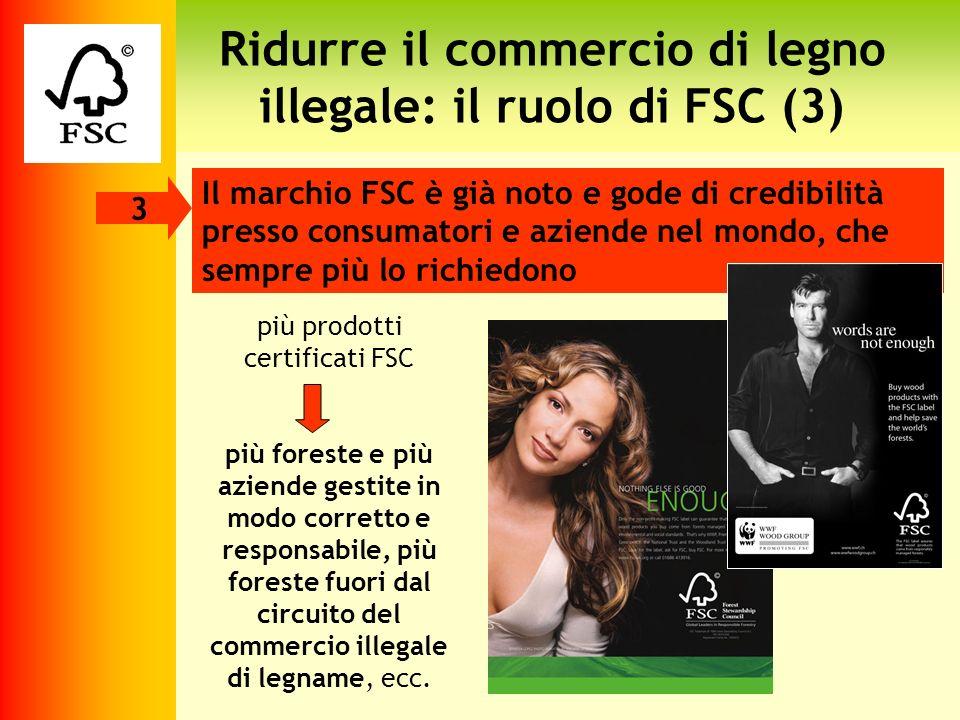 Ridurre il commercio di legno illegale: il ruolo di FSC (3) Il marchio FSC è già noto e gode di credibilità presso consumatori e aziende nel mondo, ch