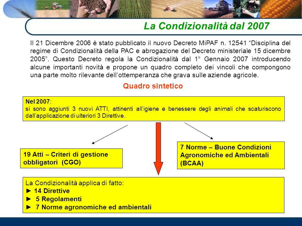 Il 21 Dicembre 2006 è stato pubblicato il nuovo Decreto MiPAF n.