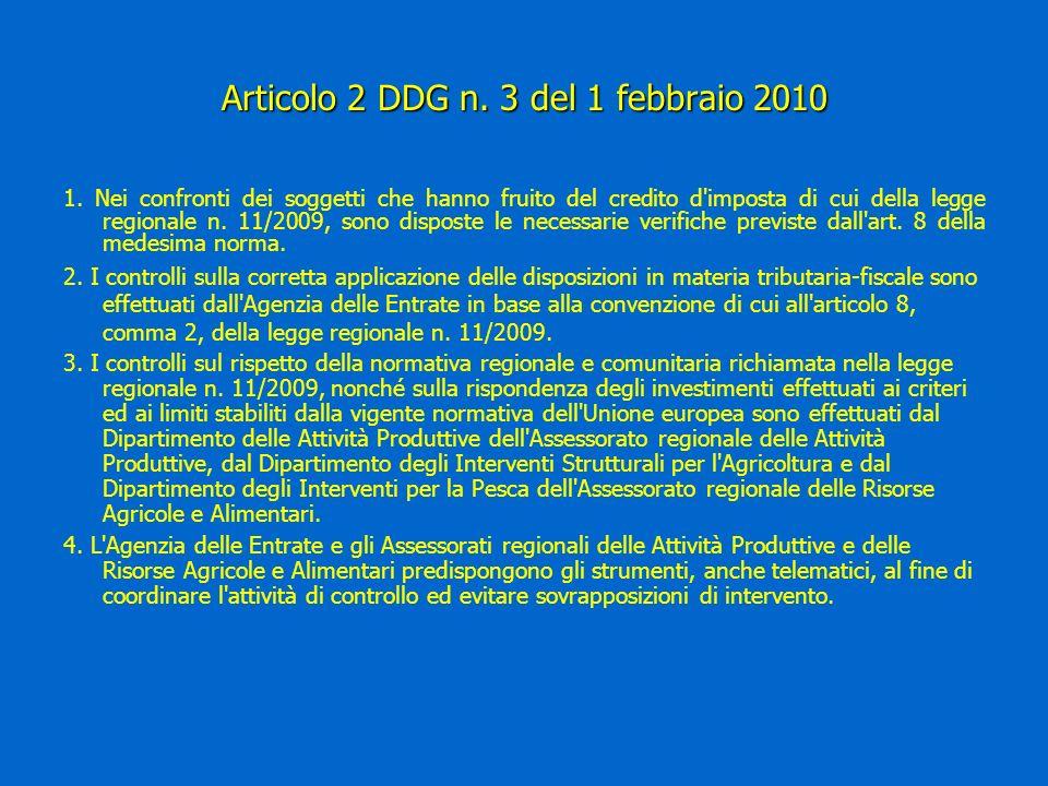 Articolo 2 DDG n. 3 del 1 febbraio 2010 1.