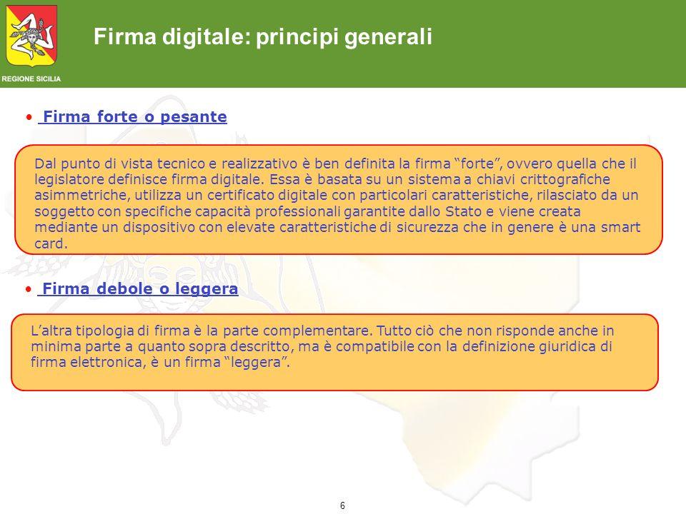 7 Firma digitale: Basi Normative <2000 L.