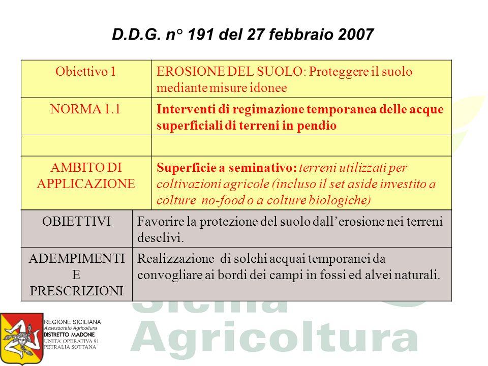 INTERVENTO DELLA REGIONE SICILIANA A livello regionale la Norma 4.2.