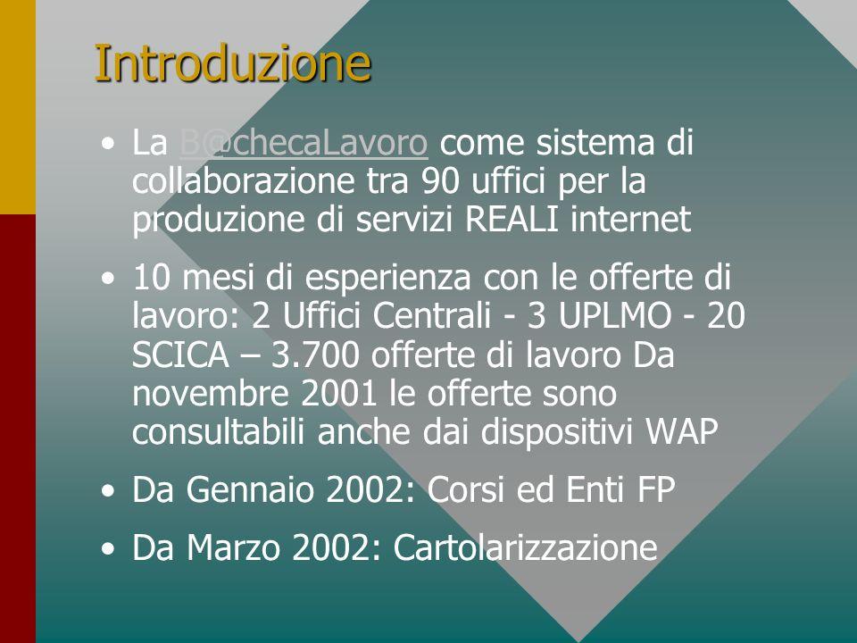 Nuovi Servizi - 2002 Annunci di Orientamento, Formazione, Lavoro Notizie dagli Uffici del Lavoro