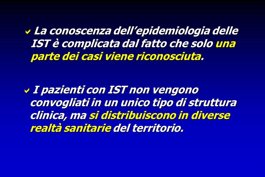 Gli unici dati disponibili sulle IST in Italia fino al 1990 sono stati quelli relativi alle denuncie obbligatorie (dati ISTAT). Gli unici dati disponi