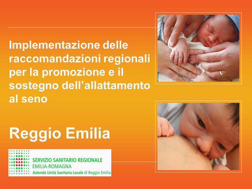 Implementazione delle raccomandazioni regionali per la promozione e il sostegno dellallattamento al seno Reggio Emilia