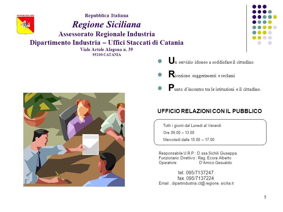 6 U.O.B.AREA 1 CATANIA UFFICIO RELAZIONI PUBBLICHE PERCHE LU.P.R.