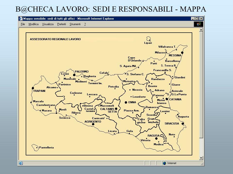 B@CHECA LAVORO: SEDI E RESPONSABILI - MAPPA